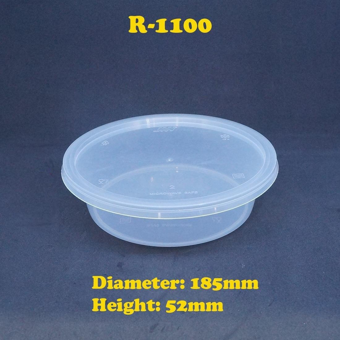 Round Food Storage Plastic Microwavable