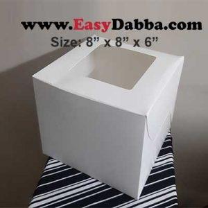 cake box 8x8x6