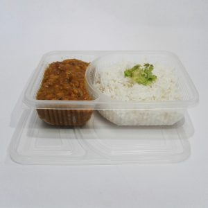 2 Compartment plastic food containers