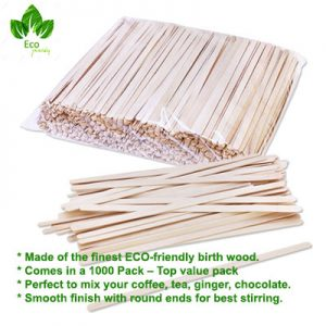 Wooden Coffee Stirrers for Paper Coffee Cups, Cup Sticks