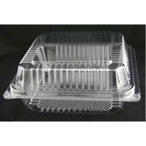 Clear Bakery Tray w/Hinged Lid