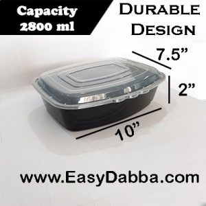 family size food container